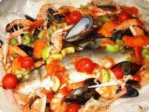 Cartoccio di pesce al forno