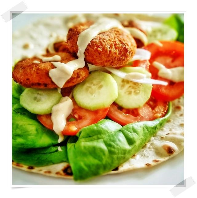 Falafel piadina kebab